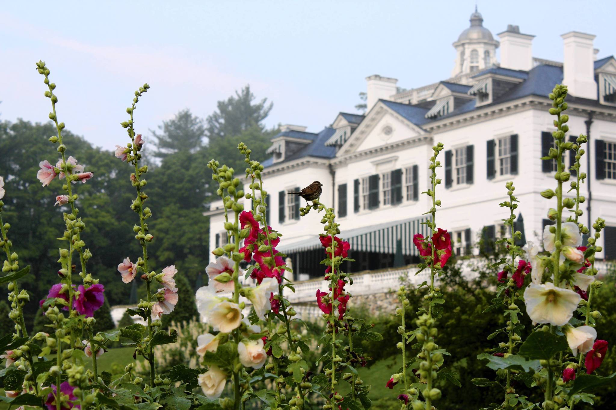 The Edith  Wharton house  is fashioned after an English country house.