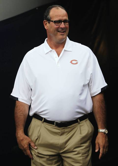 Bears offensive coordinator Mike Tice before the game.
