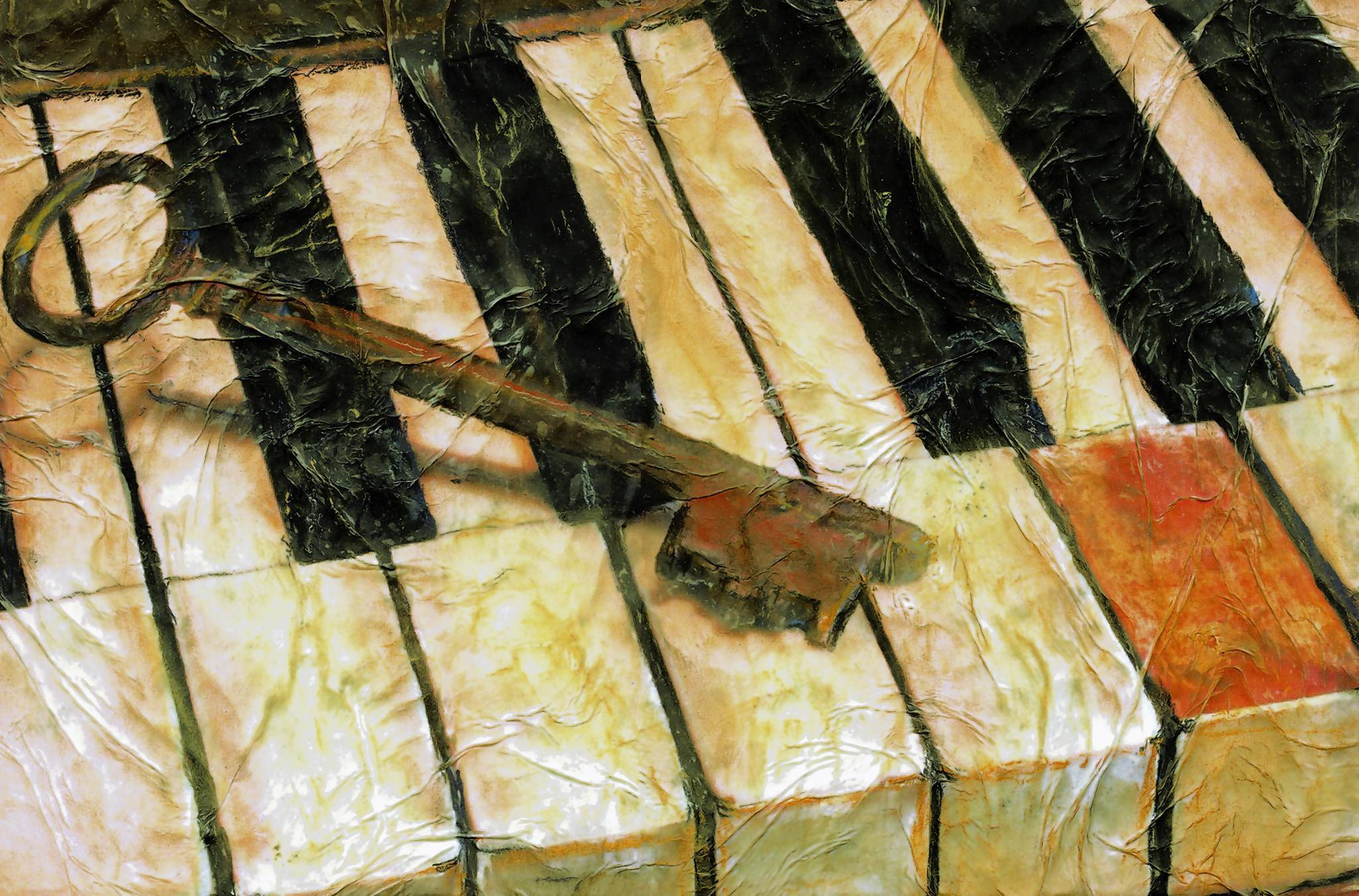 &quot;Old Keys,&quot; by painter Cheryl Jones Evans.