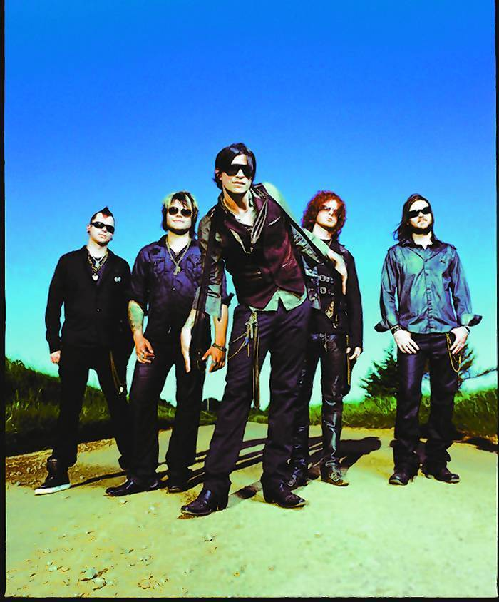 Hinder, a hard rock group from Oklahoma, performs tonight at the Corn Palace in Mitchell. Courtesy photo