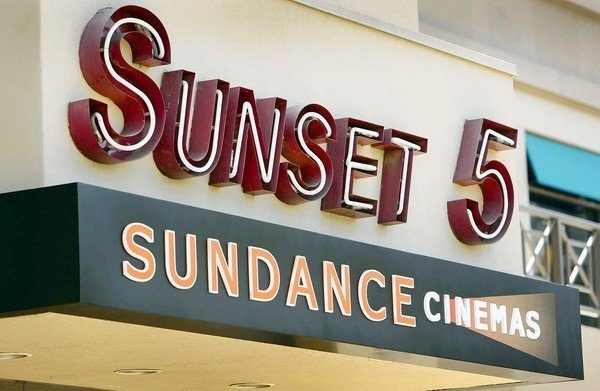 The sign above the door of the new Sundance Cinemas located in West Hollywood.
