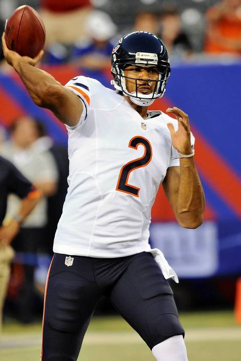 Bears backup quarterback Jason Campbell before the game against the Giants.