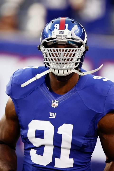 Giants defensive end Justin Tuck.
