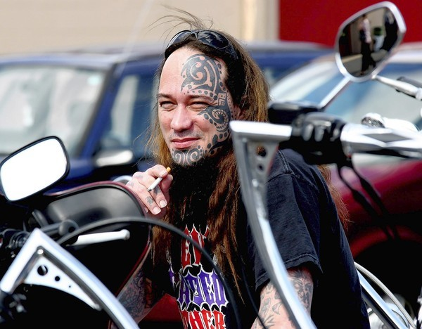 'Tattoo Tony' Rodriguez appeared at the Motorcycle Extravaganza in Allentown last year to show off his tattoos. If he tries to go to a tanning salon in Pennsylvania, however, he may have to find one with a state license because of pending legislation.