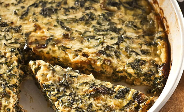 Naked quiche: The problem with quiche is that it can sometimes take a long time to make. That's easily remedied by going crustless.