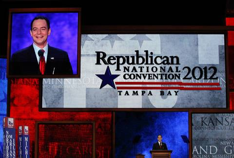 RNC Chairman Reince Priebus opens the first full day of the Republican National Convention at the Tampa Bay Times Forum.