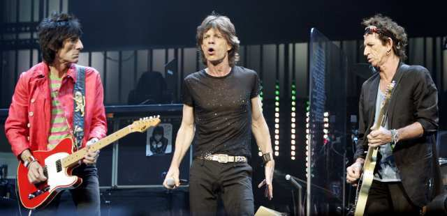 Ron Wood, left, Mick Jagger and Keith Richards may be playing four shows in November to mark this year's 50th anniversary of the band's birth in England.