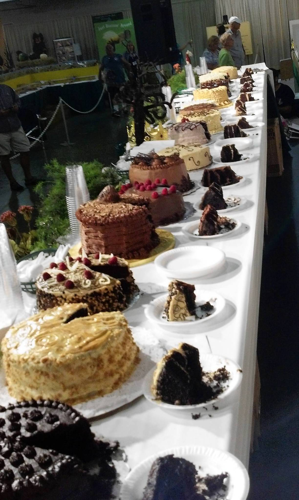 The Allentown Fairs Pennsylvania Preferred Chocolate Cake contest Tuesday night featured 20 cakes.