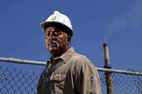 Portrait of Willie Stallworth, who has worked at both the Midwest Generation Fisk and Crawford Generating Stations in Chicago for 38 years.