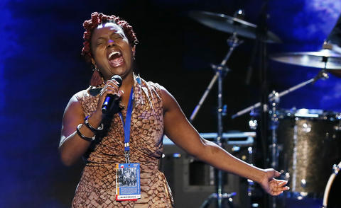 Singer Ledisi performs during a soundcheck during day one of the Democratic National Convention at Time Warner Cable Arena on Tuesday in Charlotte, North Carolina. The DNC that will run through September 7, will nominate U.S. President Barack Obama as the Democratic presidential candidate.