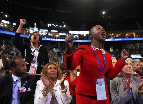 North Carolina delegates are fired up as the convention opens.