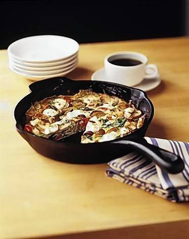 Look for the recipe for Frittata with Tomatoes, Spinach, Mushrooms &amp; Goat Cheese at OrlandoSentinel.com/thedish.