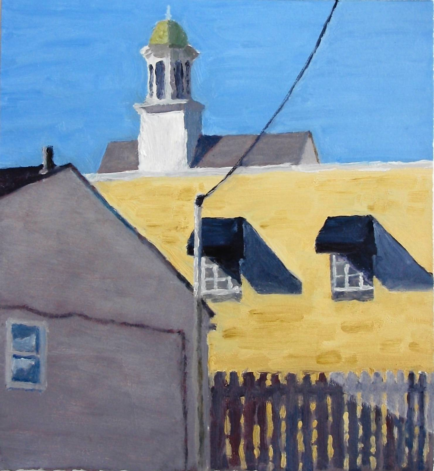 'Cupola Behind Palmanos' by Robert Ross is part of Valencia College's 'Small Works' exhibit.
