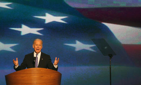 Vice President Joe Biden speaks during the Democratic National Convention at Time Warner Cable Arena in downtown Charlotte, N.C.