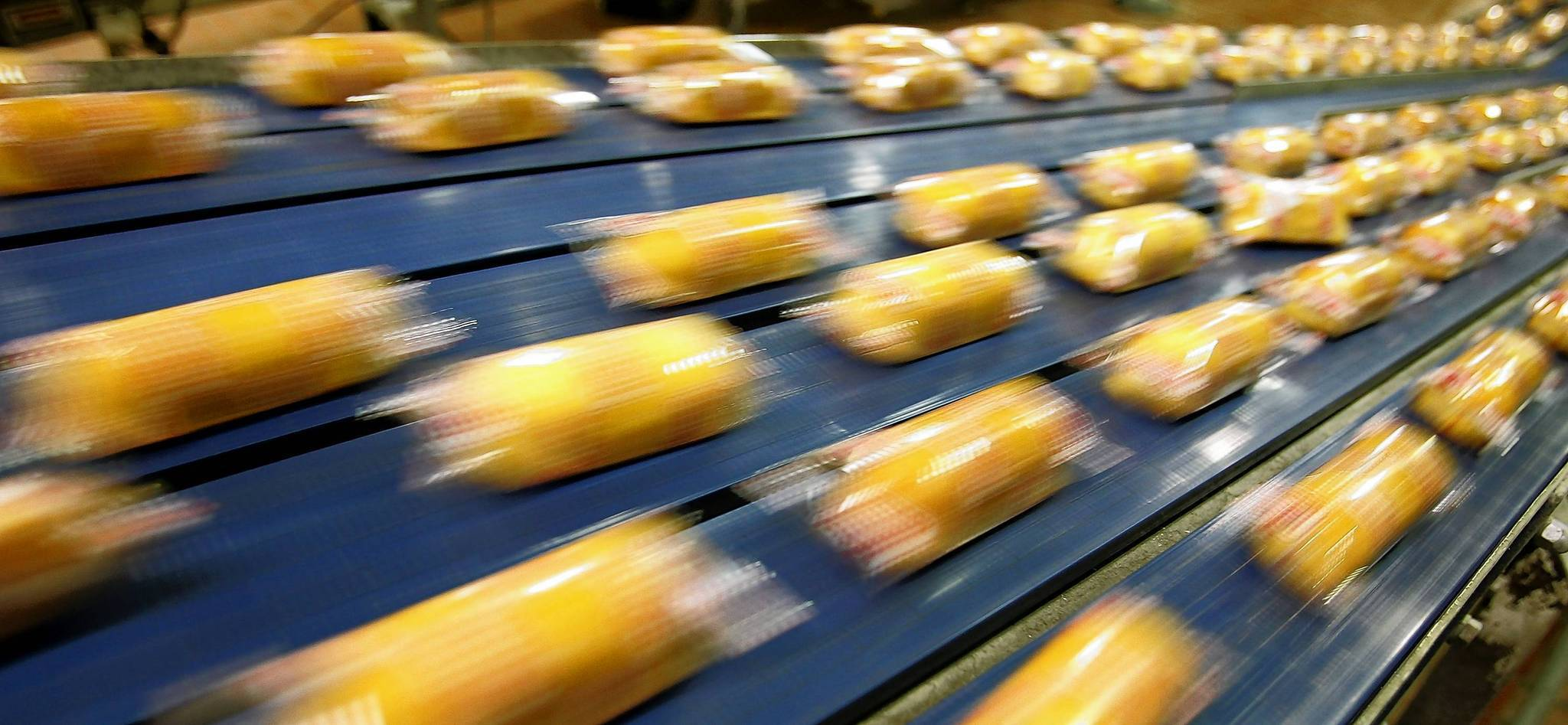 Hostess brand Twinkies move through a packaging line at a plant in Schiller Park. The parent company says it will be forced to liquidate if union members dont approve the latest batch of concessions, which are up for a vote this week.