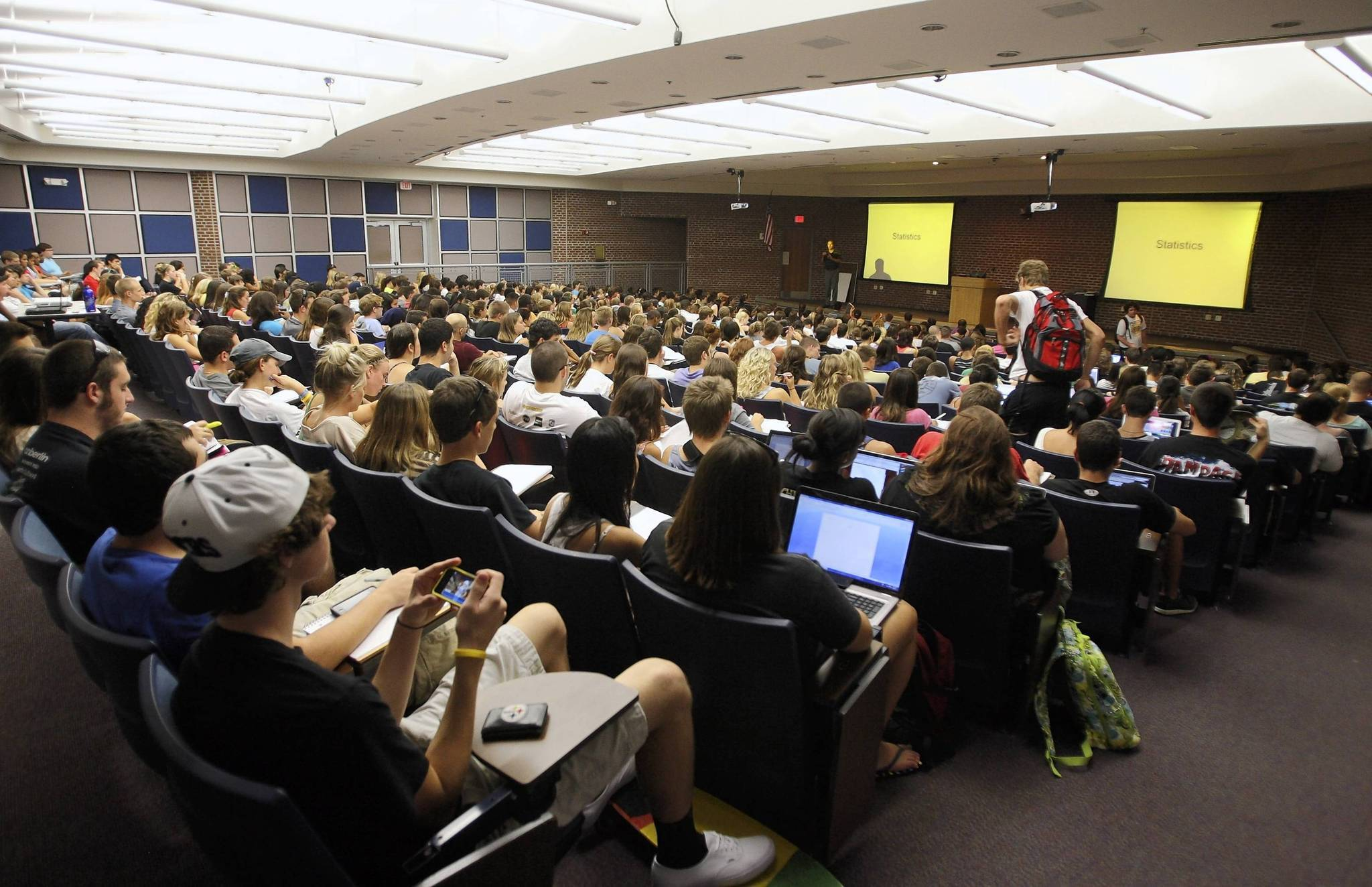 UCF professor Charles Negy teaches 448 students in his general psychology class on Thursday, September 6, 2012. UCF is the second-largest public university by enrollment.