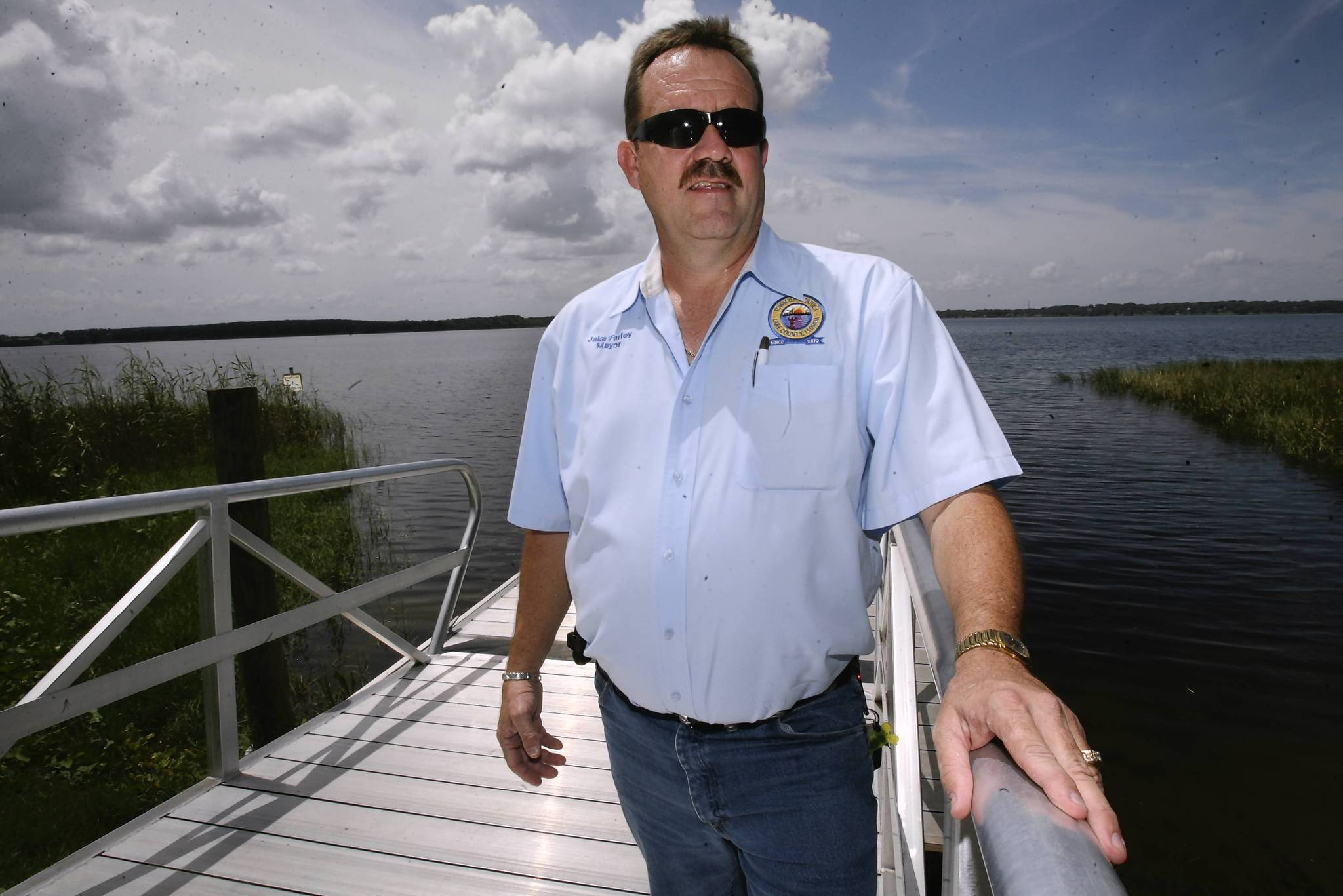Astatula is exploring the idea of having its own water utility. Mayor Jake Farley, pictured at the new dock, thinks it would be advantageous for the town to have a utility.