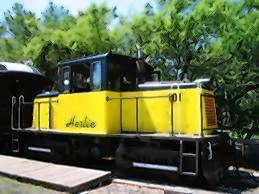 "Locomotive dubbed ""Herbie.""  (Tavares, Eustis & Gulf Railroad)"