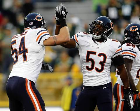 Brian Urlacher and Nick Roach are ready for some football.