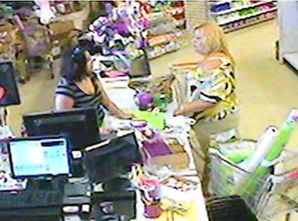 Eustis police say this woman used a fraudulent credit card to purchase party supplies last month.