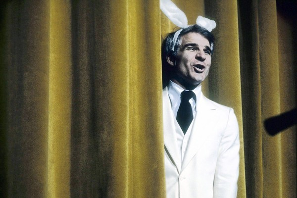 Steve Martin performs in 1975.