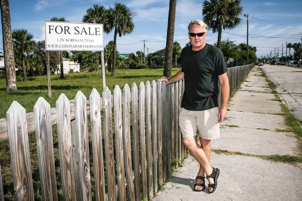 Since he lost this Daytona land, Gerry Nolan has been its sales agent.