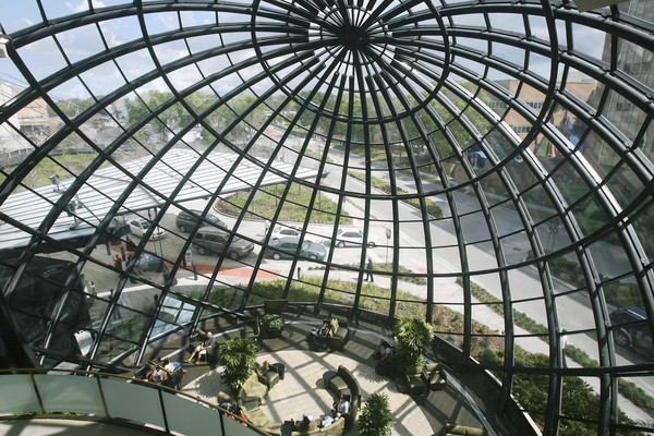 The spectacular atrium at the Winnie Palmer Hospital for Women & Babies is seen Thursday, March 15, 2012.