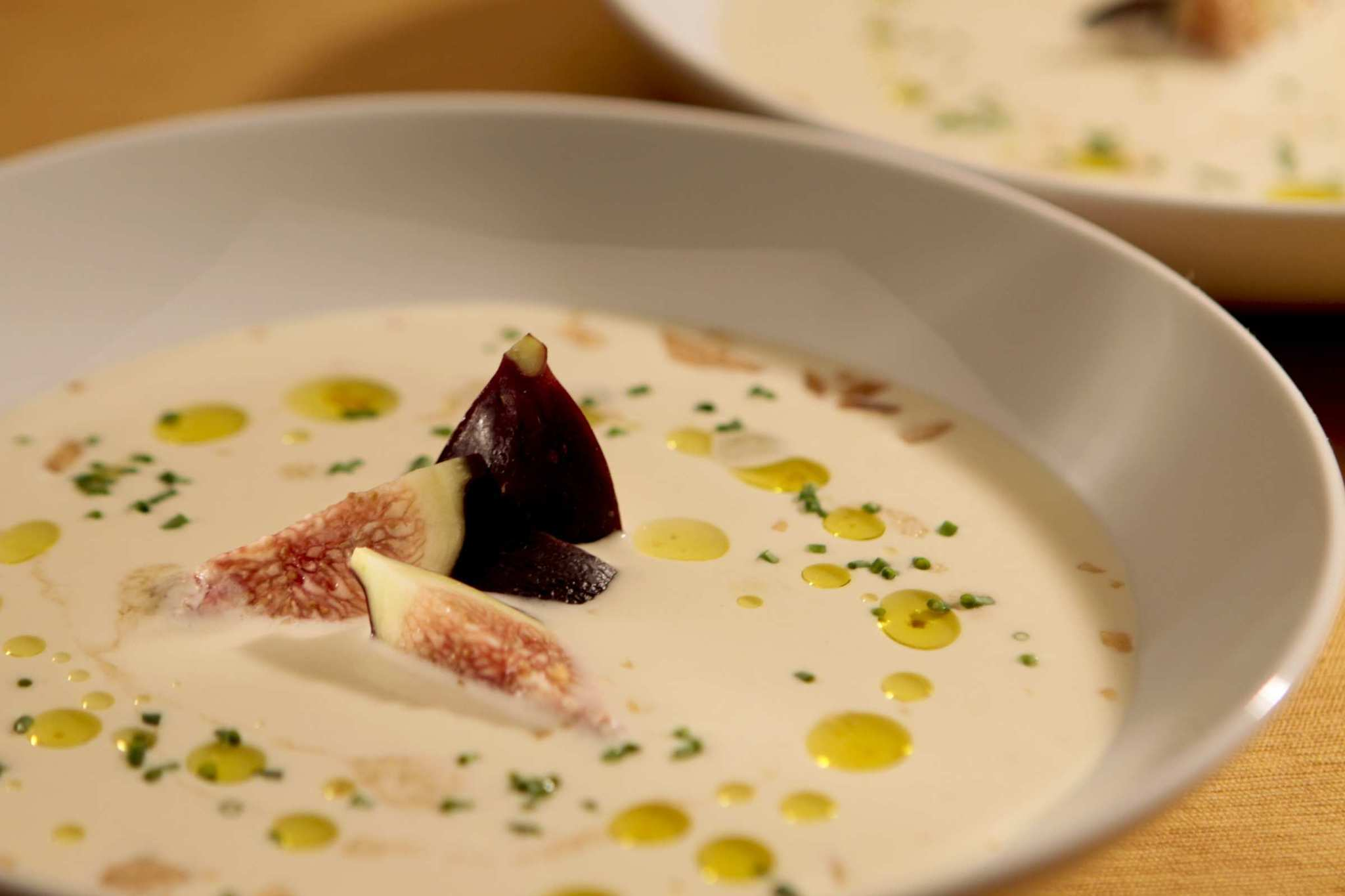 Cold almond and garlic soup.