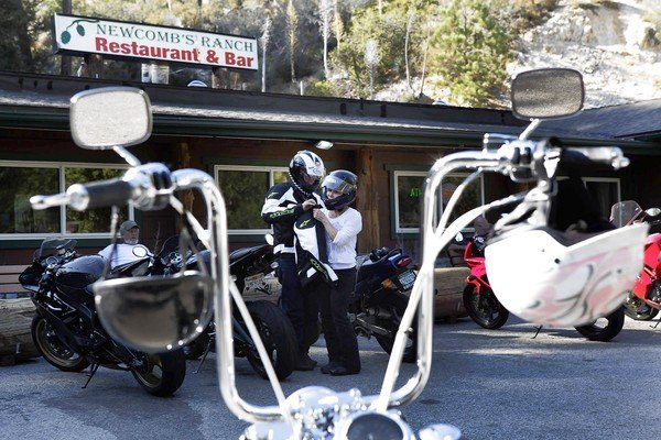 Newcomb's Ranch on Angeles Crest Highway is a prime spot for bikers ready to unwind from the winding road.