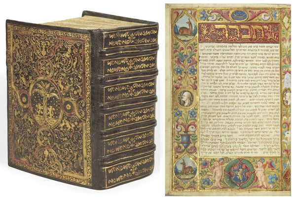 The Tuscan prayer book in Hebrew, circa 1490s, sold for $2.4 mill. at Christies Paris this year.