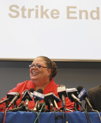Teachers, led by Chicago Teachers Union President Karen Lewis, were able to keep the public on their side during the recent strike.