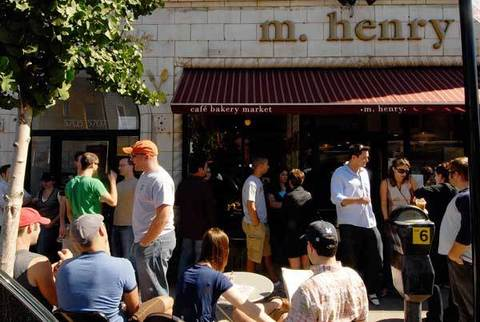 M. Henry, 5707 N. Clark St., 773-561-1600 The pancakes at this Andersonville brunch spot are so transcendent that they have their own name--blisscakes--and a long wait on weekends doesn't deter loyal regulars.