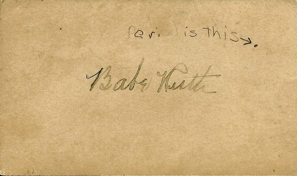 This penny postcard bears what is believed to be the signature of Babe Ruth, the Major League Baseball star. It was found in the archives of the Cooper Memorial Library Association, the nonprofit volunteer group that used to run the library for Clermont.