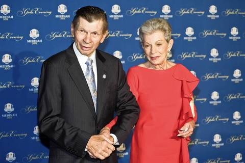 Stan and Jill Mikita attend the 39th Ryder Cup Gala.