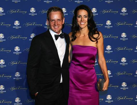 Luke Donald of Europe and his wife Diane attend the 39th Ryder Cup Gala.
