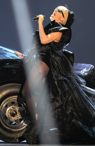 U.S. singer Lady Gaga performs after she received the Pop International Bambi award during the 63rd Bambi media awards ceremony in Wiesbaden, November 10, 2011. Every year, the German media company 'Hubert Burda Media', honors celebrities from the world of entertainment, literature, sports and politics with the Bambi awards.