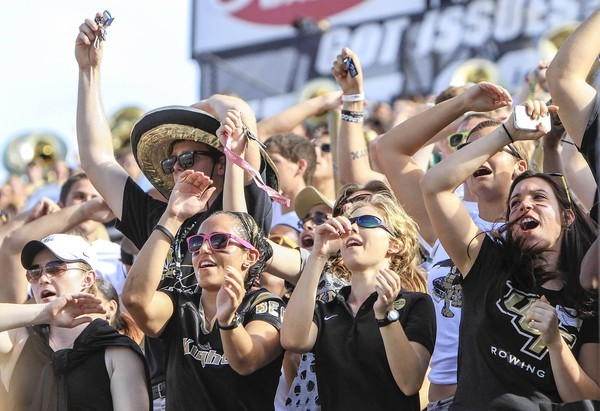 UCF fans cheer during second quarter action of a Conference USA game against FIU at Bright House Networks Stadium on Saturday, September 15, 2012, in Orlando.