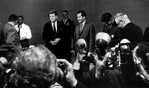 The Kennedy-Nixon debate was broadcast from Chicago's CBS studio.
