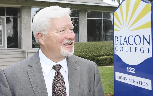 Dr. John Hutchinson, president of Beacon College, is pictured on the campus in Leesburg on Wednesday, August 15, 2012. (Stephen M. Dowell/Orlando Sentinel)