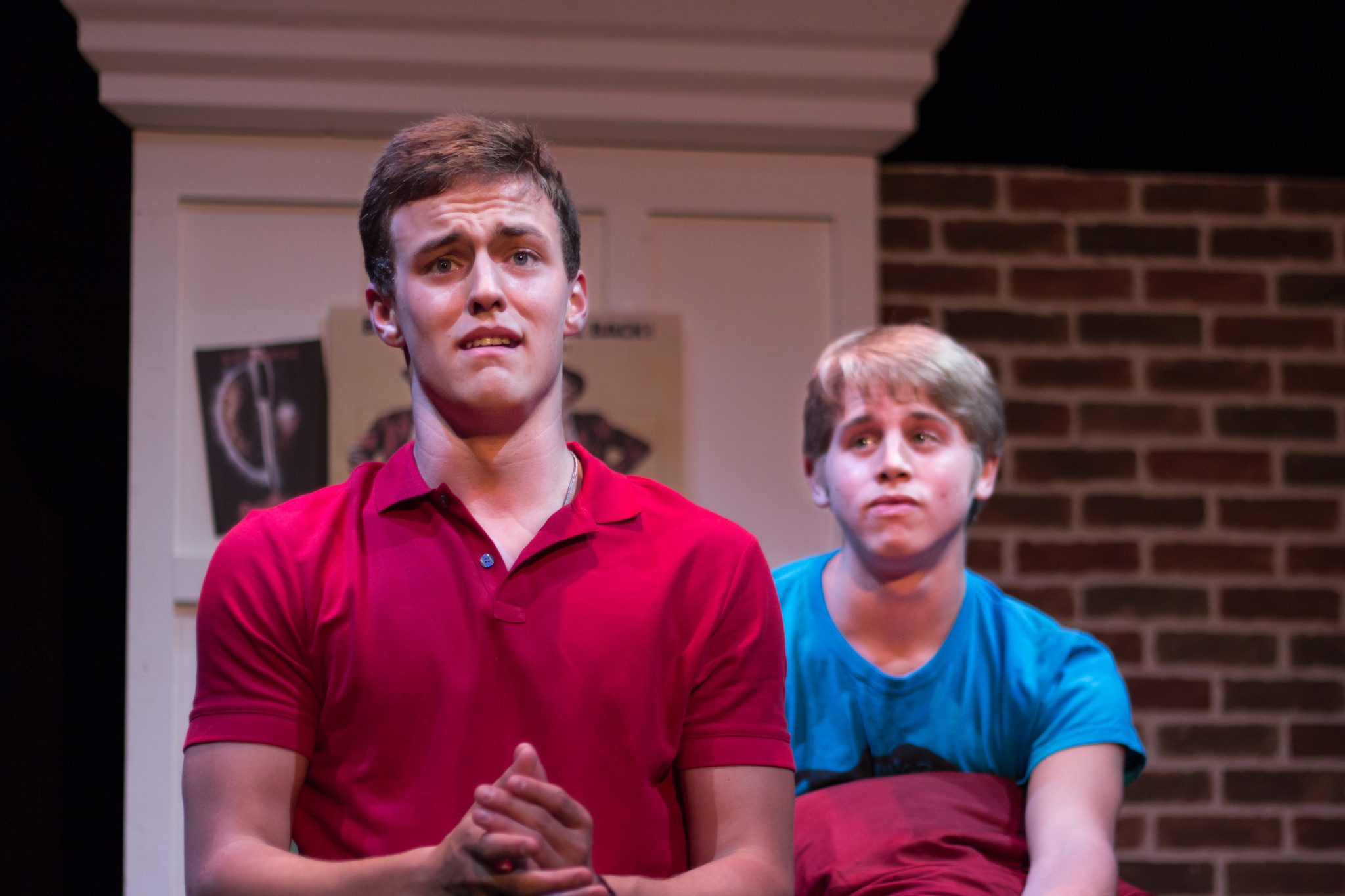 "Jesse Hinton (left) and Kyle Wilkinson in ""Good Boys and True"" from Theatre UCF."