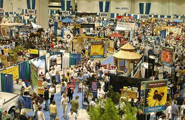 Visitors peruse the exhibits at the Orlando Home Show at the Orange County Convention Center this file photo.