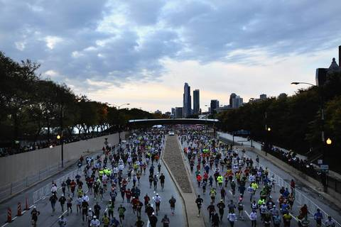 Thousands of runners from all over the world participated in the 35th Bank of America Chicago Marathon.