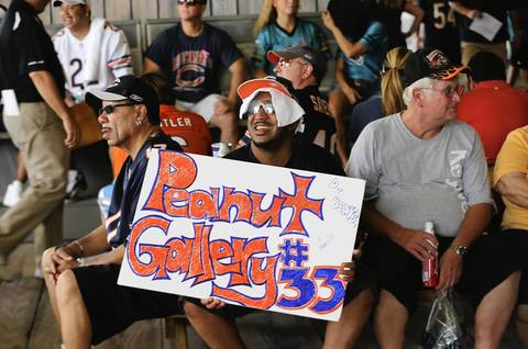 Bears fans at Everbank Field before the start of the game.