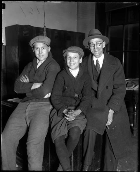 Raymond Lacey, left, John Kubilina and Louis H. Grebe - Bank holidays, November 4, 1925.