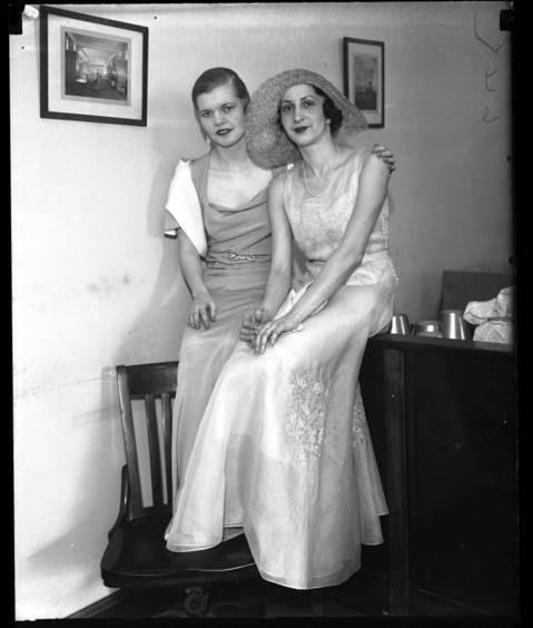 Alice Dickinson and Jane Martin, of the Chicago Junior League at Saks 5th Avenue, April 8, 1932.