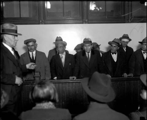 Tony Algna, left, Sam Lavarda, James Spina, Eugene Prasta, May 26, 1927.