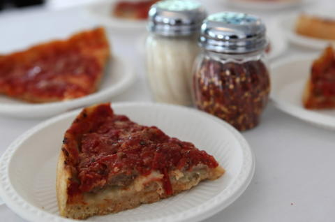 Lou Malnati's deep dish with a famous butter crust is a Chicago staple.