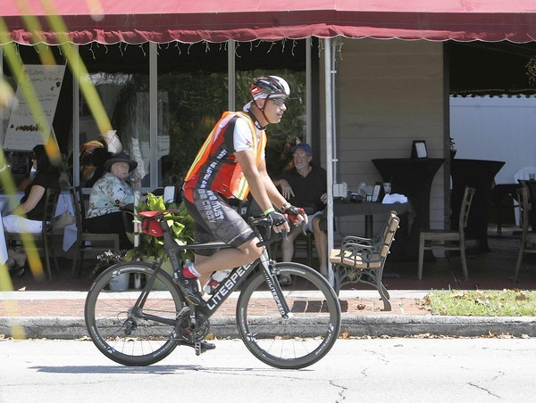 Rob Porter of Eustis, leads a ride on Friday, October 12, 2013, opening day of the  38th Annual Mount Dora Bicycle Festival. The festival wraps up Sunday. (Tom Benitez/Orlando Sentinel)