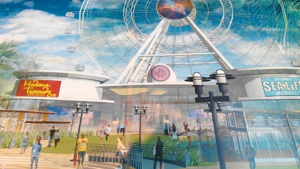 I-Drive Live is slated to be anchored by a giant observation wheel that will be 425 feet tall.