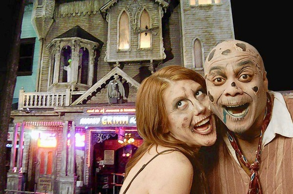 The Haunted Grimm House is a year-round haunted house at Old Town in Kissimmee.